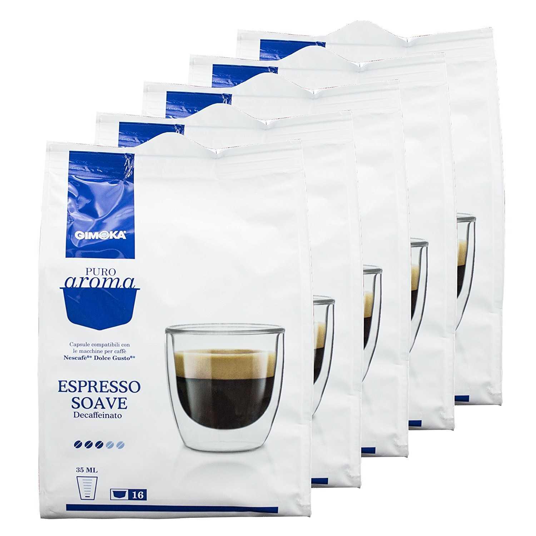 Gimoka 5x16 capsule Puro Aroma Espresso Soave Dec compatibili Nescafè Dolce Gusto
