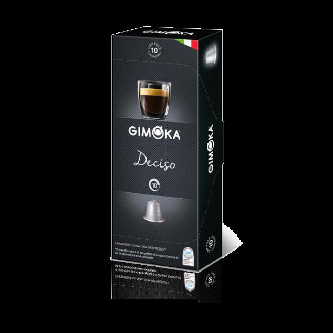 Gimoka 10x10 capsule miscela Deciso compatibili Nespresso