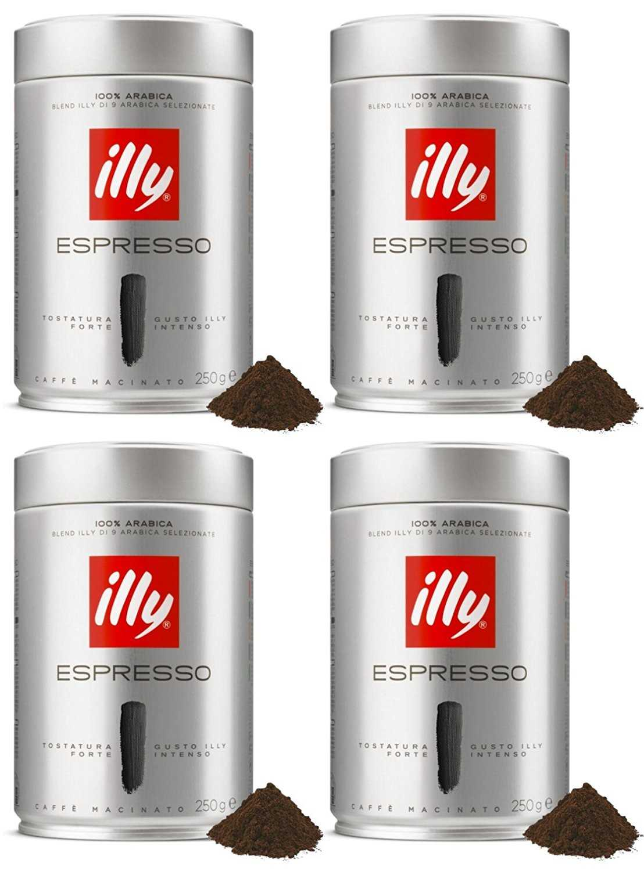 Illy caffè macinato tostatura scura 250 gr